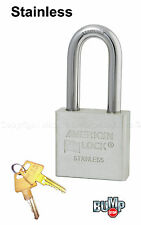 American Padlock - High Security Lock Solid Stainless Steel A6461NKA BumpStop