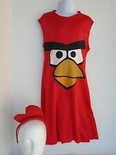 GIRLS RED ANGRY BIRD COSTUME SIZE S