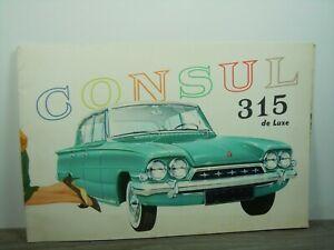 Brochure Prospekt Folder - Ford Consul 315 De Luxe *47116