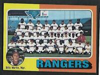 1975 Topps #511 Texas Rangers Team Card Unmarked CL Checklist NM-MT