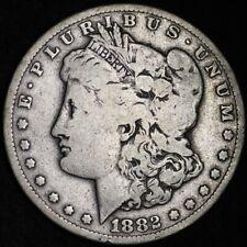 1882-CC Morgan Dollar CHOICE VG FREE SHIPPING E373 RBE