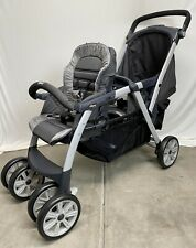 Chicco Cortina Together Double Stroller Gray & Black-Open Box-FREE SHIPPING