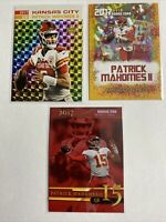 2017 Patrick Mahomes Prism And Cracked Ice 3 Card Rookie Lot $$ Hot $$