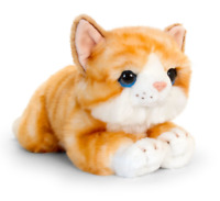 CUDDLE KITTENS ORANGE PLUSH SOFT TOY CAT 25CM STUFFED ANIMAL KEEL TOYS