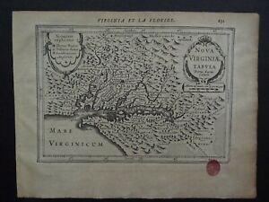 1630 Jansson / Mercator Atlas map  VIRGINIA - America - Nova Virginiae Tabula