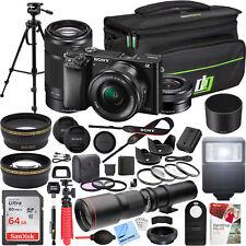 Sony a6000 Alpha Mirrorless Digital Camera 16-50mm & 55-210mm Lens Pro Bundle