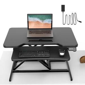 Sit Stand Workstation Höhenverstellbarer Sitz-Steh-Schreibtisch Aufsatz Gaming