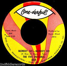 Los cinco du Tonos-Mono ver Monkey Do-más Raro Funk-Doo Wop 45-onederful #4818