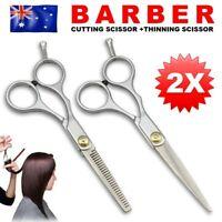 NEW 2Pcs Hairdressing Hair Scissors Cutting Thinning Barber Shears Salon Set 6''