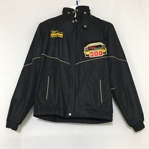 Vintage 80s Miller High Life Racing Team Jacket Hood Charlotte 300 - YOUTH XL