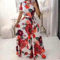 Maxi long beach party Women's summer sundress boho dress floral evening cocktail