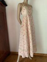 Maxikleid Hippiekleid von Abercrombie & Fitch Baumwolle offwithe rosa Blumen XS