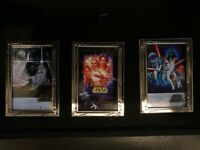 Disney Star Wars Weekends 2007 Boxed JUMBO Pin Set - Movie Posters LE500