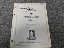 LeTourneau Model Y Sheeps Foot Roller Compactor Parts Catalog