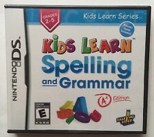 Kids Learn Spelling and Grammar (Nintendo DS, 2011) Brand New Sealed - Rare! HTF