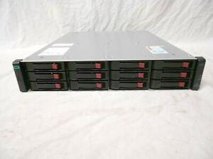 HPE HP 36TB MSA1040 MSA 1040 SAN Storage Array 12x 3TB SAS 2x 1Gb iSCSI Control