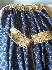 1 Pair Bespoke Double Sided Curtains w/ Tie Backs & 1 Box Pleated Pelmet