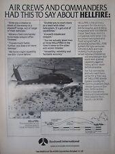 10/1982 PUB ROCKWELL MISSILE SYSTEM HELLFIRE HUGHES ARMY AH-64 APACHE AUSA AD