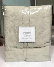 Restoration Hardware Vintage-Washed Diamond Matelasse Bed Skirt King Dune $159