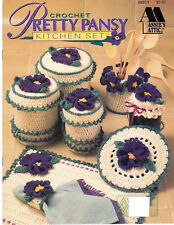 """Crochet Collector/'s pattern leaflet Country Charm ~ 14/"""" Floral Chenille Pillow"""