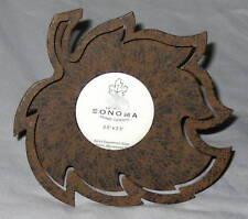 "Metal 6X6"" Brown 3D Leaf Picture Frame"