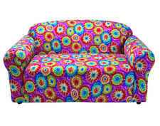TIE DYE SOFA COVER-ALSO COMES IN COUCH LOVESEAT CHAIR RECLINER FUTON SLIPCOVER
