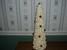 "K&K Interiors 18"" Popcorn & Cranberry Tree-New"