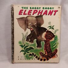 The Saggy Baggy Elephant Vintage Children's Book 1947 Little Golden Book