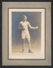 1913 JACK RIECK Philadelphia Boxer Vintage Cabinet Photo