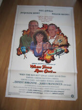 WHEN TIME RAN OUT original 1980 poster Paul Newman William Holden