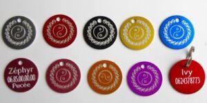 Medalla Yang Grabado Para Animales Perro O Gato - 8 Colores 25 Y 32MM