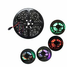 6803 IC Black PCB LED 5050 3M 150LED RGB Strip Waterproof 12V 2 Pack included