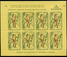 CANADA, #CL25e 1926 5¢ on 50¢ Ovpt in green, Patricia Airways, sheet of 8,