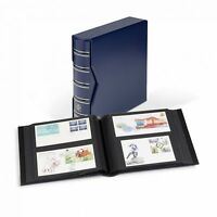 Lighthouse Album for up to 200 FDCs with Slipcase - Blue (NEW Larger DL Size)