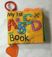 Playtex Baby My First ABC Book Animal Crinkle Book Baby Toddler Teether Colorful