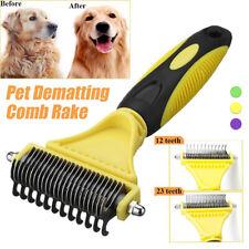 Professional Dog Brush Dematting Gently Efficient Safe Pet Comb Rake Removes.mc