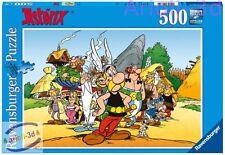 ASTERIX & COMPANY - 14635 NEW 500 pcs RAVENSBURGER PUZZLE 19 1/3X14 1/4'' OBELIX