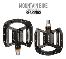 MZYRH Mountain Road Bike Bicycle Bearing Pedals Wide Nylon Pedals Black2 Pack CA