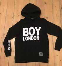 Mens Medium M Boy London Black Hoody Hoodie Pull Over Gym Chill Run Genuine