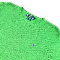 VTG Polo Ralph Lauren Men's Crew Neck Knit Sweater Kelly Green • Large