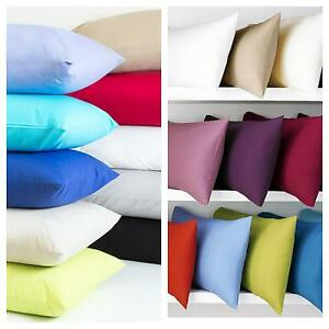 2 x Pillow Cases Luxury Polycotton Housewife Bedroom Pillow Cover   SUPER SOFT