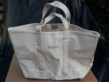 "LL Bean Boat & Tote LARGE Bag Embroidery Sea Shells Canvas USA SEWN ""PATRICIA"""