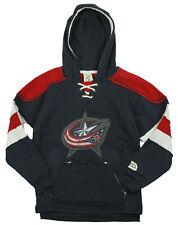 Reebok NHL Youth Boys Columbus Bluejackets Vintage Style Pullover Hoodie - Navy