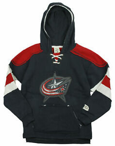 Reebok NHL Youth Boys Columbus Bluejackets Vintage Style Pullover Hoodie - Navy