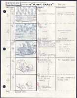 Beetlejuice Original Production Animation Storyboard Nelvana Tim Burton 1990 32