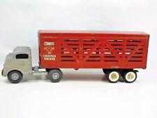 STRUCTO LIVESTOCK TRUCK TRAILER C-3044 VINTAGE TOY FARM RANCH CATTLE HOGS SHEEP