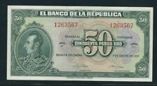 COLOMBIA BANKNOTES  $50 1951 7 DIGITS
