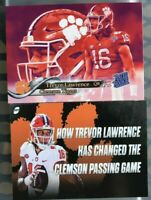 CLEMSON TIGERS 2x QB TREVOR LAWRENCE! TWO Rated Rookie Custom ACEO 2019 RC BIN!!