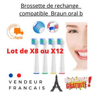 Pack Lot Brossettes De Rechange Braun Oral-B Brosse À Dents Électrique Recharge