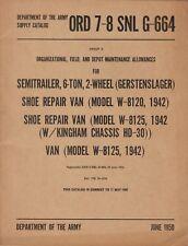 ORD 7-8 SNL G-664 SEMITRAILER 6-TON 2-WHEEL(MODELS W-8120, W-8125).
